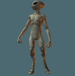 Salah satu pencitraan Alien (EBE)